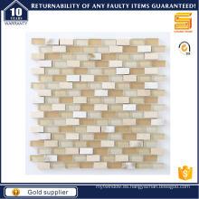 Mosaico de mármol de la tira para el mosaico de cristal del piso de la pared interior