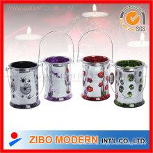 Überzug Farbiger Glas Kerzenhalter