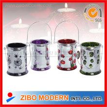 Plating vidro colorido titular da vela