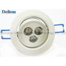 3W Luz de teto flexível do diodo emissor de luz de Dimmable (DT-TH-3A)