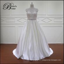 Toutes sortes de robe de mariée Satin blanc clair