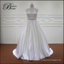 All Kinds of Plain White Satin Bridal Gown