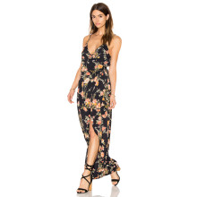 Chiffon Flower Sexy Beach Mulheres Dress