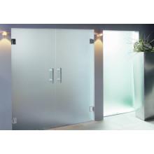 Portes Verre, Verre de salle de bain en panneaux de clôture décoratifs en feuilles transparentes