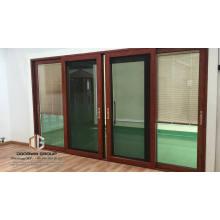 TEXAS LA populares puertas francesas interiores puertas correderas con persianas incorporadas puertas corredizas de vidrio del hotel