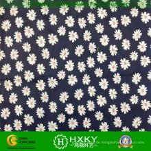 Daisy Printed Polyester Chiffon Stoff für Damen Kleid oder Hemd