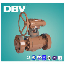 Worm Gear A105 Forging Steel Metal Seated Ball Valve