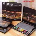 juego de lápices de acuarela 24 36 48 72 color madera promocional