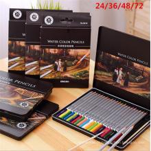 conjunto de lápis de aquarela de madeira promocional 24 36 48 72 de cor