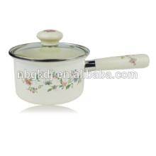 taza de té y platillo flor esmalte olla