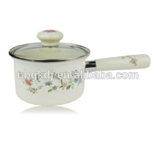 tea cup and saucer flower enamel pot