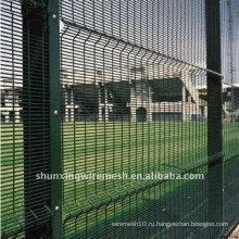 ПВХ покрытием Сердечно Горизонтальные провода Безопасный забор
