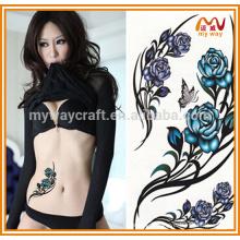 2016 горячая мода розы татуировки для декорации тела