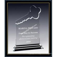"""Premio de placa de cristal de 8 """"para los jugadores de tu equipo clave (NU-CW690)"""