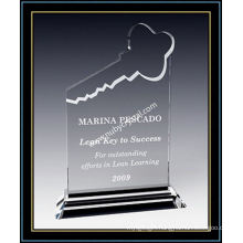 "8"" Tall Crystal Key Plaque Award for Your Key Team Players (NU-CW690)"