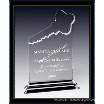 """Récompense de plaque de cristal haute de 8 """"pour les joueurs de votre équipe clé (NU-CW690)"""
