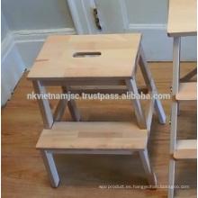 Alcanzar las cosas con facilidad con taburete Acacia Step Made in Vietnam