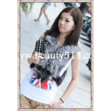 fah009 OEM wholesale fur garment fur clothing rabbit fur mink fur clothing fur jacket