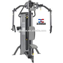 equipos de gimnasio sentado equipo de hilera máquina de prensa de cofre