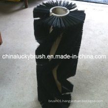 Black PP and Steel Mixture Road Sweeper Brush (YY-207)