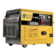 Gerador diesel silencioso 5kw refrigerado a ar portátil pequeno para a venda