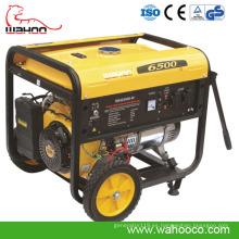 Generador de poder eléctrico de la gasolina 5kw con el CE, ISO9001 (WH6500)