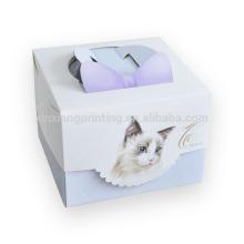 Caja de empaquetado de papel del precio de fábrica para la torta que empaqueta la caja de torta alta