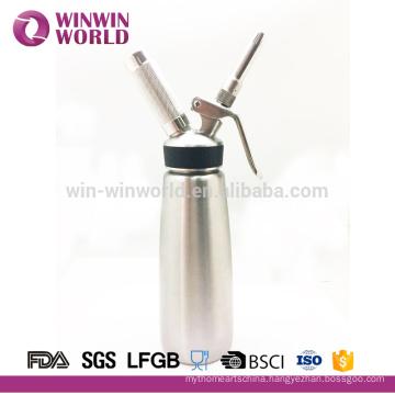 Desert Tools Wholesale Stainless Steel Whipped Iced Cream Dispenser Maker With Rubber 1 Pint