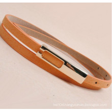 Lady suede fashion pu leather belt