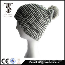 Wholesale fashion cheap winter pom pom knit hat