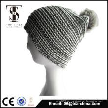 Atacado moda barato inverno pom pom malha chapéu