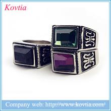 Neue Modell thailand Schmuck dort Farben Edelstein Ring natürlichen Stein Titan Ring