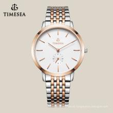 Relógio de luxo personalizado com chapeamento de ouro IP 72018
