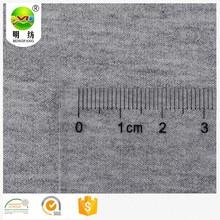 Tissu en jersey bouclette stretch rayonne gris chiné