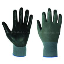 Revestido de la PU guantes de trabajo resistente al corte (PD8060)