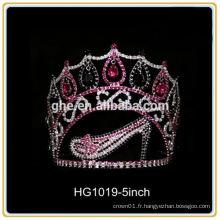 Tiaras de tiaras de tonnerre de bal de prom pour les couronnes de tiare de fête de fille