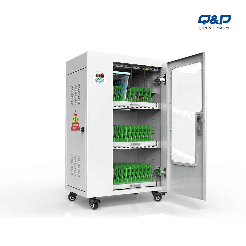 Smart tablets charging cart with acrylic door