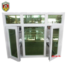 65 series thermal break insulation double swing opening aluminum window for sale