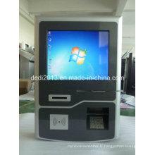 Terminal de service d'individu fixé au mur, terminal de paiement de lecteur de cartes, terminal d'écran tactile