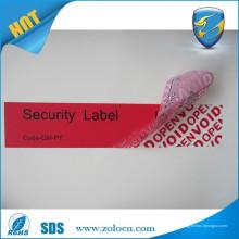 Garantie de prix bas vide autocollants / garantie nulle si retiré label / tamper évident étiquettes vides