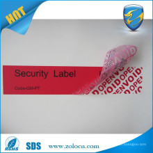 low price warranty void stickers/warranty void if removed label/tamper evident void labels