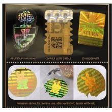 Custom Round Hologram Void Stickers