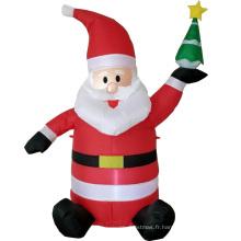 Père Noël gonflable de vacances pour la décoration de Noël