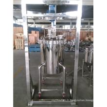 Réservoir de mélange en acier inoxydable avec agitateur et support