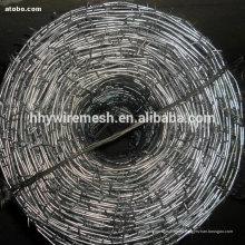 alambre de púas galvanizado 2.5 * 2.0mm El mejor precio para 2 filamentos de alambre de púas