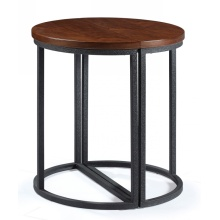 Classic Metal Leg Round Restaurant WoodTop Coffee Tables