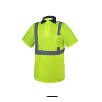 Hi Viz Long Sleeve Industry Worker POLO Shirt