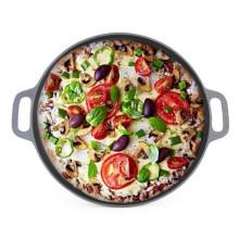 Pan caliente de la pizza del hierro fundido de la venta con CIQ, EEC, FDA, LFGB