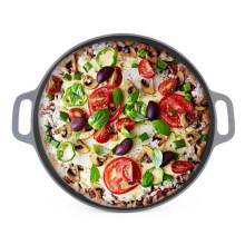 Hot Sale Cast Iron Pizza Pan with CIQ, EEC, FDA, LFGB