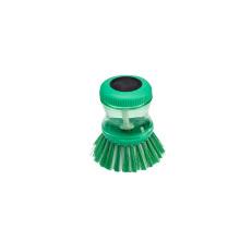 Escova verde natural da palma da bacia do prato da bandeja do potenciômetro da ferramenta da lavagem da cozinha, escova de limpeza do sabão do potenciômetro